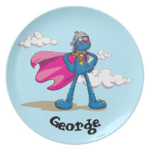 Super Grover | Add Your Name Dinner Plate