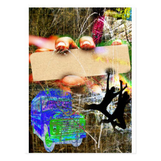 Super Grunge Template Postcard