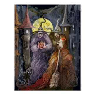 * Super halloween witchs * Poster