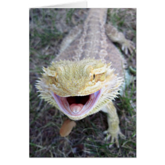 Super Happy Bearded Dragon Card