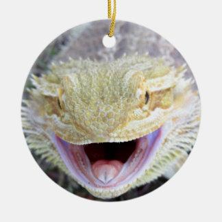 Super Happy Bearded Dragon Ceramic Ornament