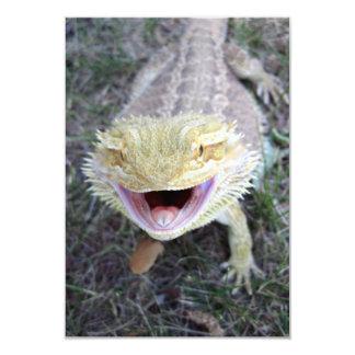 Super Happy Bearded Dragon 3.5x5 Paper Invitation Card