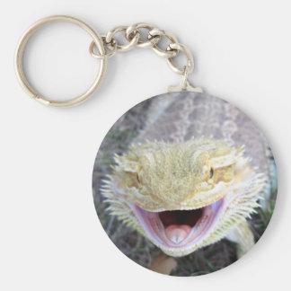Super Happy Bearded Dragon Keychain