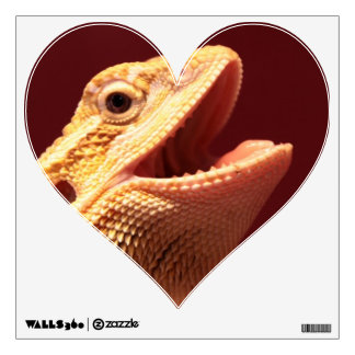 Super Happy Bearded Dragon Wall Decal