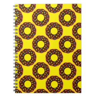 Super Happy Chocolate Donuts Notebook