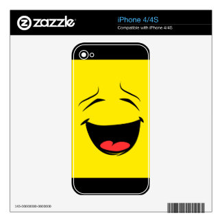 Super Happy Smiley Face Emoji Decals For The iPhone 4