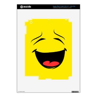 Super Happy Smiley Face Emoji iPad 3 Skin
