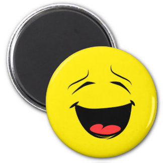 Super Happy Smiley Face Emoji Magnet