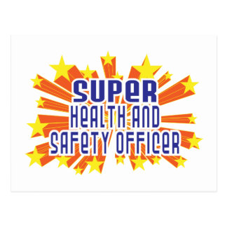 Super Health and Safety Officer Postcard