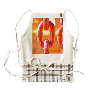 Super heated chains zazzle HEART apron