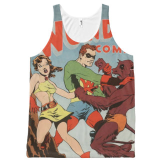 Super hero and monsters All-Over-Print tank top