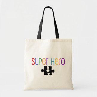 Super Hero Autism Tote Bag