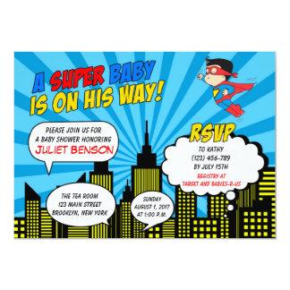 Superhero Baby Shower Invitations Superhero Baby Shower
