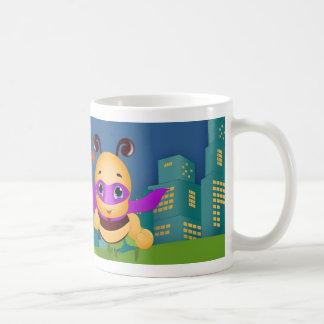 Super Hero Bee The Hero Design Classic White Coffee Mug