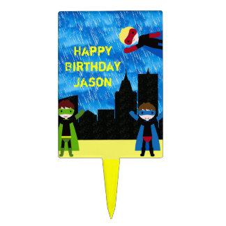 Super Hero Boys Bithday Party Cake Picks