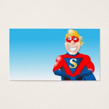 Professional Business Super Hero Business Card- Horizontal2 Business Card
