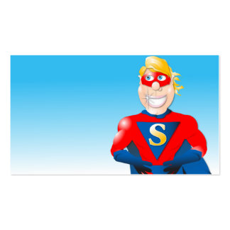 Super Hero Business Card- Horizontal2 Double-Sided Standard Business Cards (Pack Of 100)