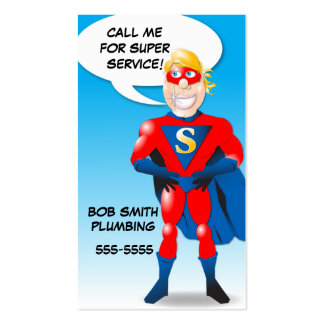 Super Hero Business Card Shell - vertical