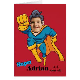 Super Hero Child Birthday Card