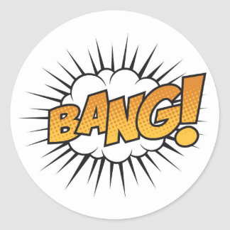 Super Hero Comic Strip BANG! Stickers