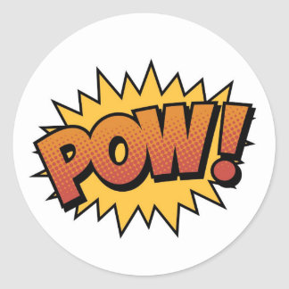Super Hero Comic Strip POW! Stickers