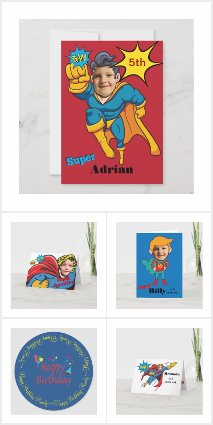 Super Hero Custom Kids Birthday