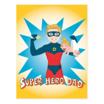 Super Hero Dad Postcard