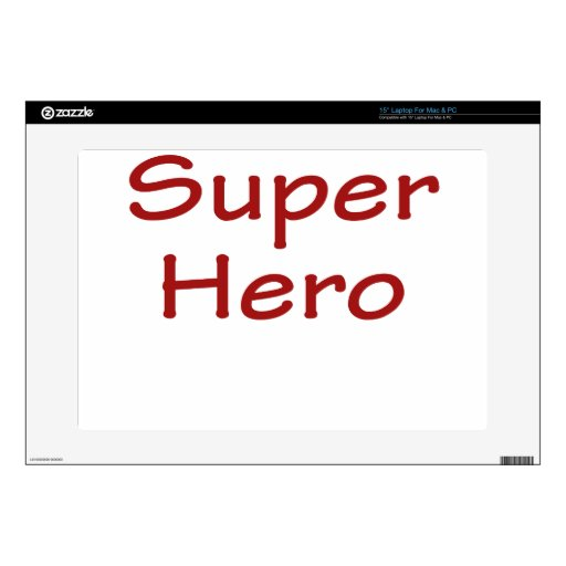 Super Hero Decal For Laptop