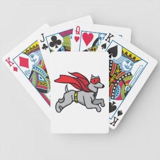 Super Hero Dog Bicycle Playing Cards