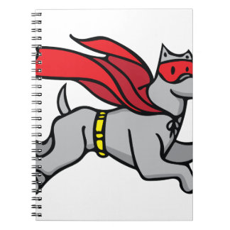 Super Hero Dog Spiral Notebook