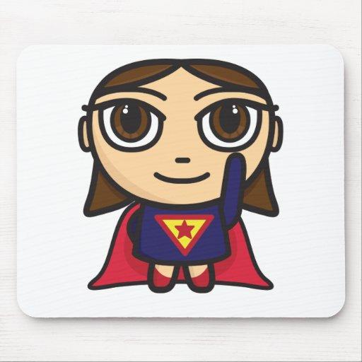Super Hero Girl Cartoon Character Mouse Pads