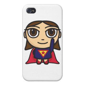 Super Hero Girl Cartoon iPhone 4 Case