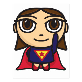 Super Hero Girl Character Post Card