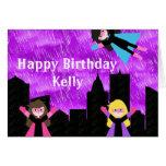 Super Hero Girls Bithday Party Cards