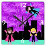 Super Hero Girls Bithday Party Clock
