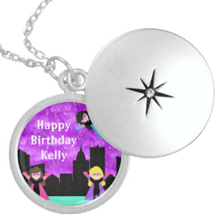Super Hero Girls Bithday Party Sterling Silver Necklace