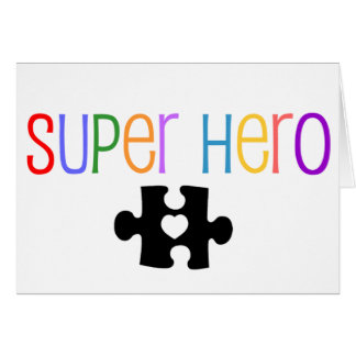 Super Hero Greeting Card - Autism