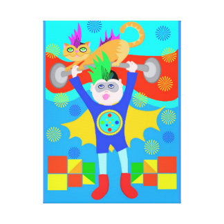 Super Hero Kid Stretched Canvas Print