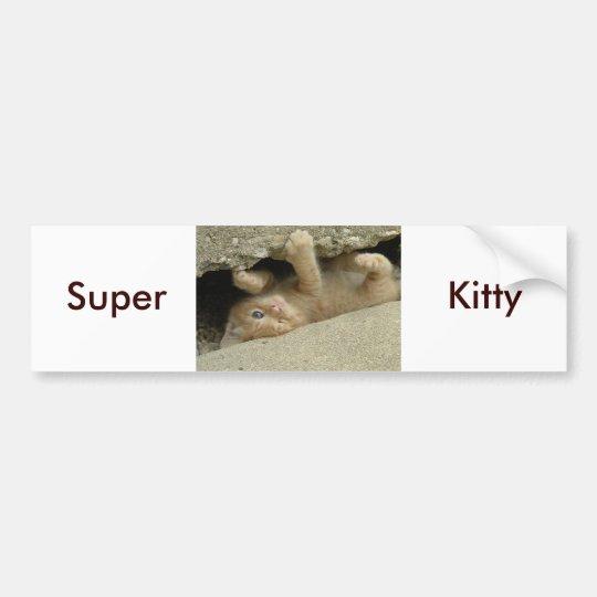 Super Hero Kitty Cat Bumper Sticker