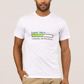 Super Hero... loading in progress bar icon, shirt. T-Shirt
