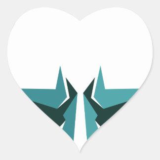 super hero mask heart sticker