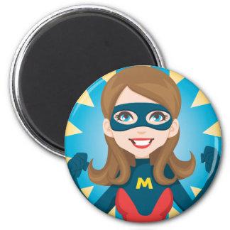 Super Hero Mom 2 Inch Round Magnet