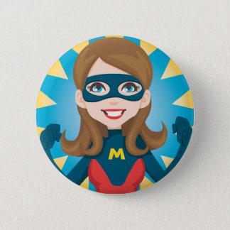 Super Hero Mom Pinback Button