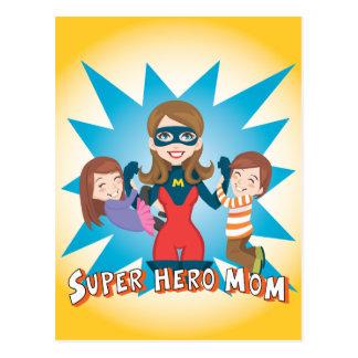 Super Hero Mom Postcard