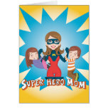 Super Hero Mom Stationery Note Card
