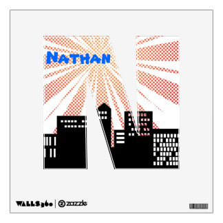 Super Hero Name Letters Comic Book Themed Kids Art Wall Decal