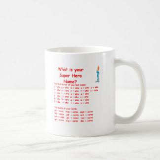 super hero name coffee mug