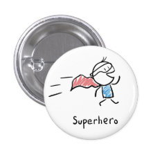 Super Hero Pin at Zazzle
