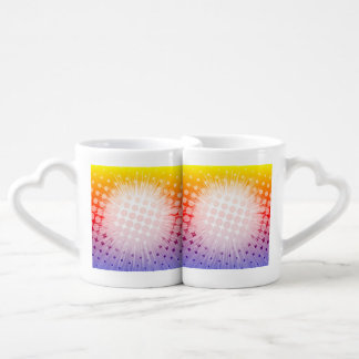 Super Hero Pop Art Purple Couples Coffee Mug