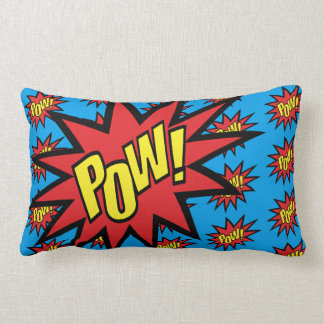 Super Hero Pow Custom Color Lumbar Pillow